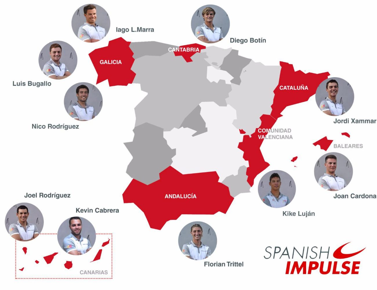 mapa españa spanish impulse